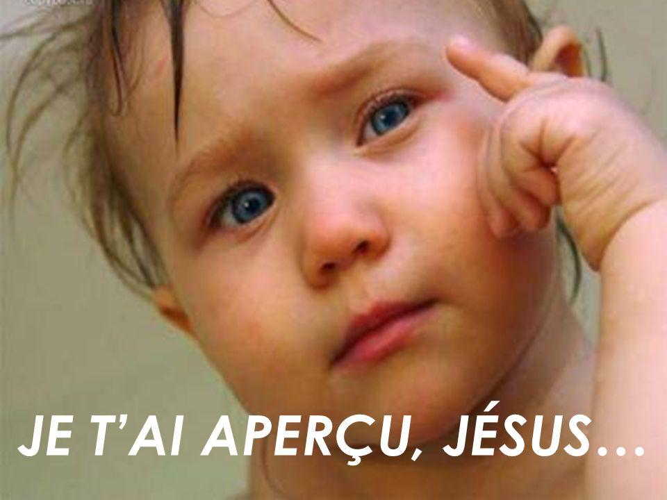 Garde mes yeux rivés sur ta présence, Seigneur, que je puisse dire encore et encore : je tai aperçu, Jésus !