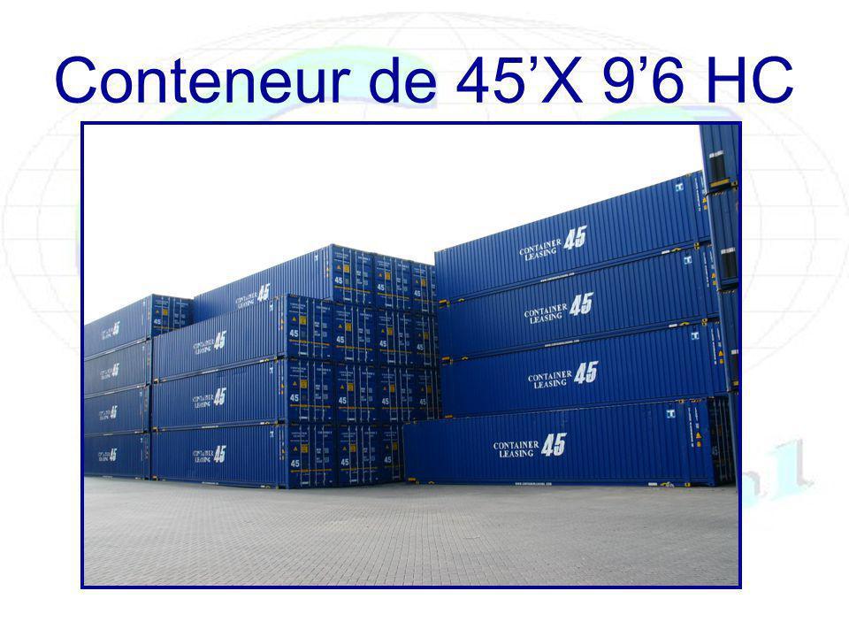 Conteneur de 45X 96 HC