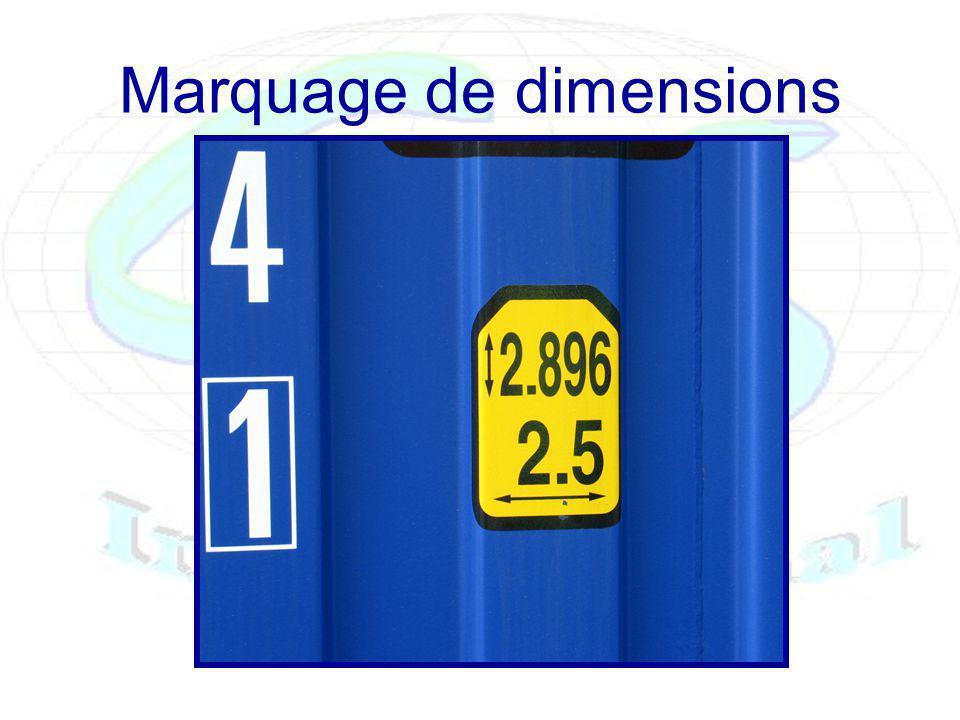 Marquage de dimensions