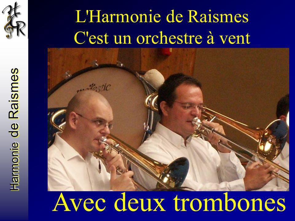 Harmonie de Raismes L'Harmonie de Raismes C'est un orchestre à vent Avec deux trombones