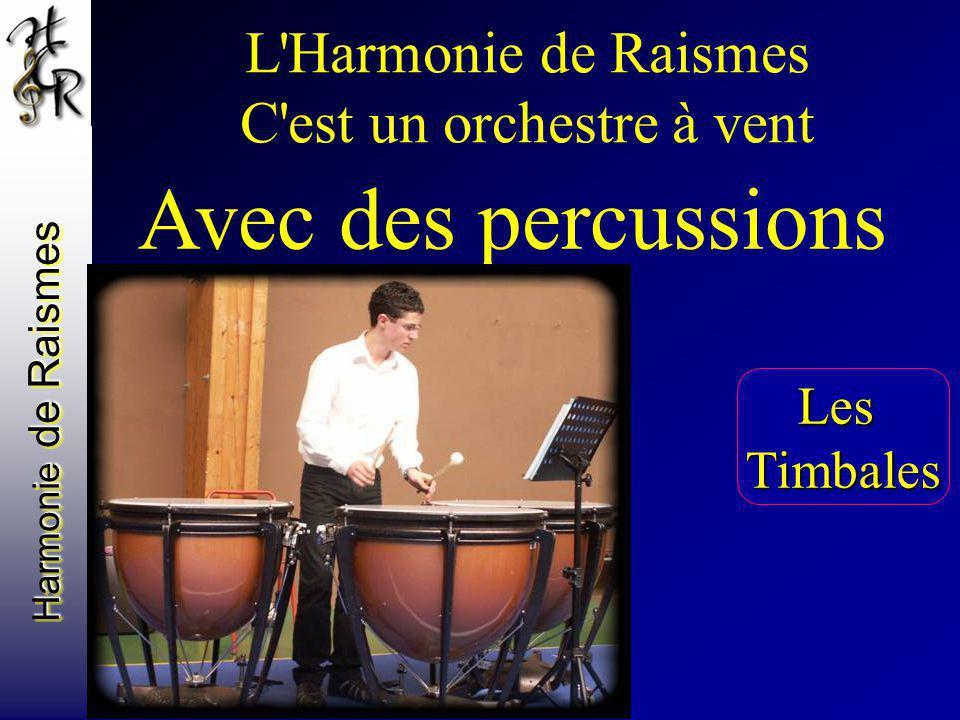 Harmonie de Raismes L'Harmonie de Raismes C'est un orchestre à vent Avec des percussions LesTimbales