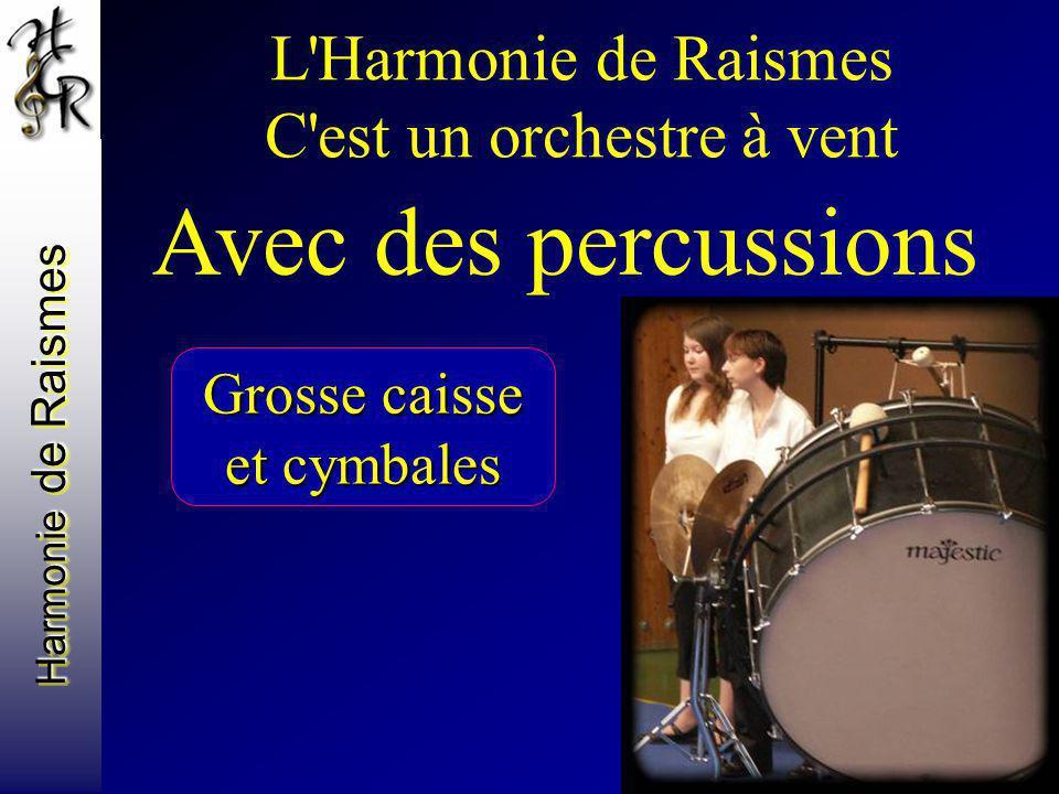 Harmonie de Raismes L'Harmonie de Raismes C'est un orchestre à vent Avec des percussions Grosse caisse et cymbales