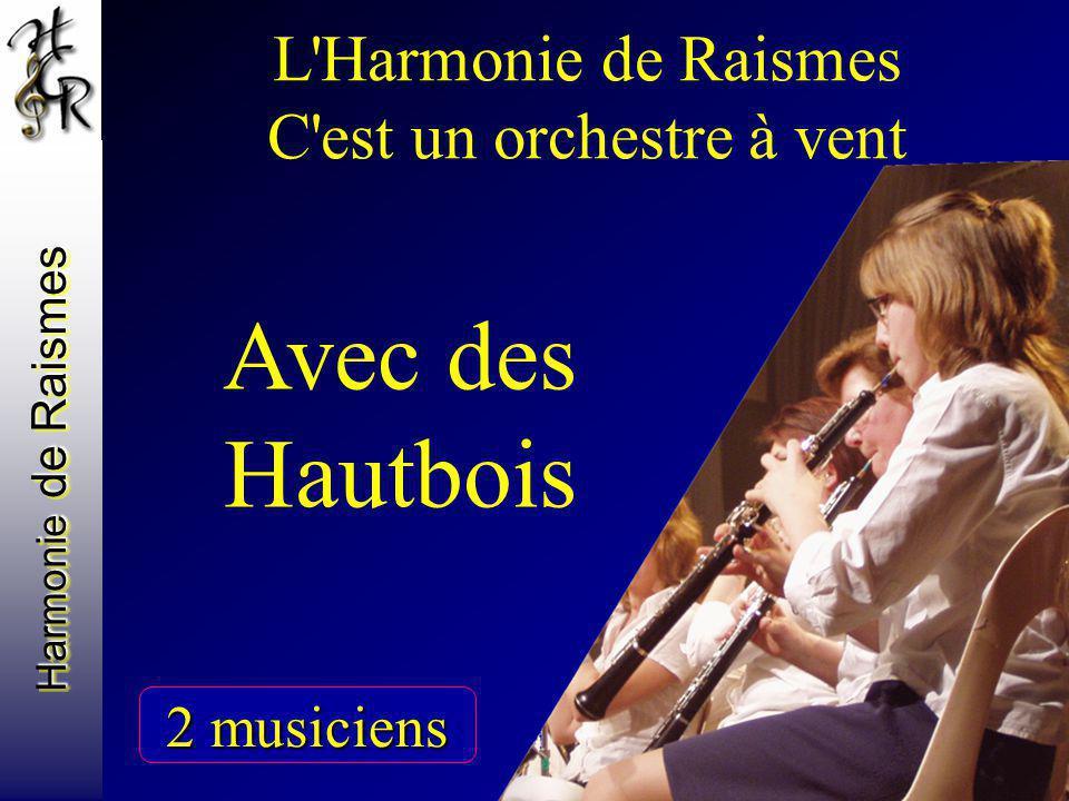Harmonie de Raismes L'Harmonie de Raismes C'est un orchestre à vent Avec des Hautbois 2 musiciens