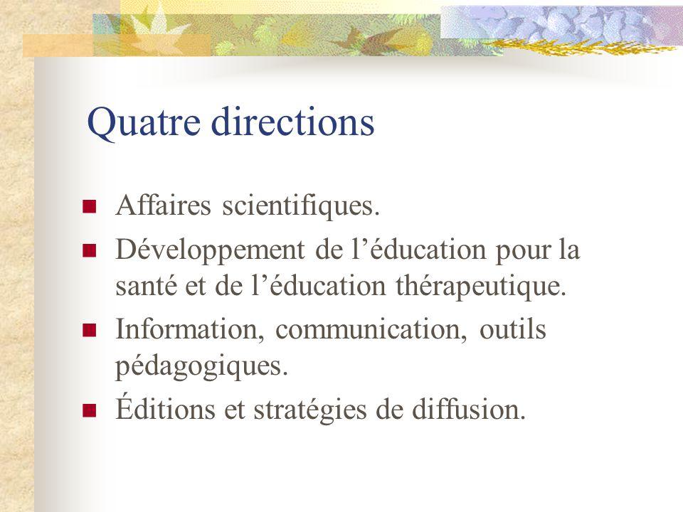 Quatre directions Affaires scientifiques.