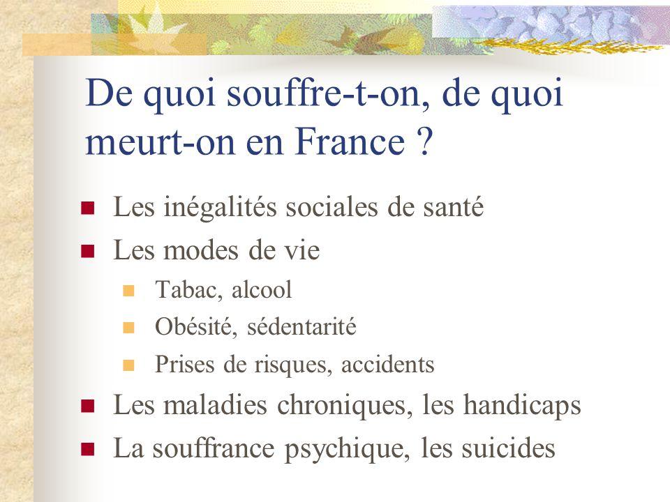 De quoi souffre-t-on, de quoi meurt-on en France .