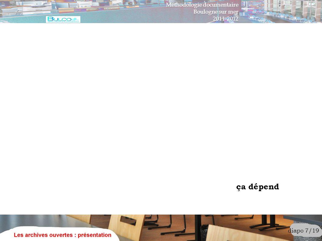 diapo 18/19 Quelques sites d archives ouvertes http://www.opendoar.org/ http://roar.eprints.org/ http://www.plosone.org/ http://hal.archives-ouvertes.fr/