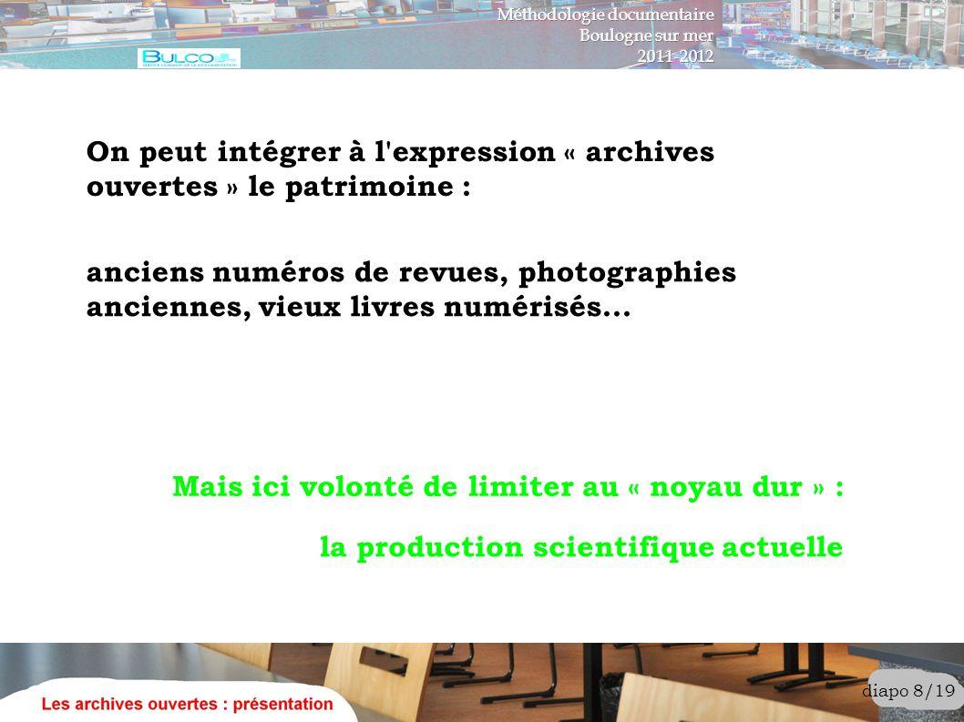 diapo 9/19 « la production scientifique actuelle » ?