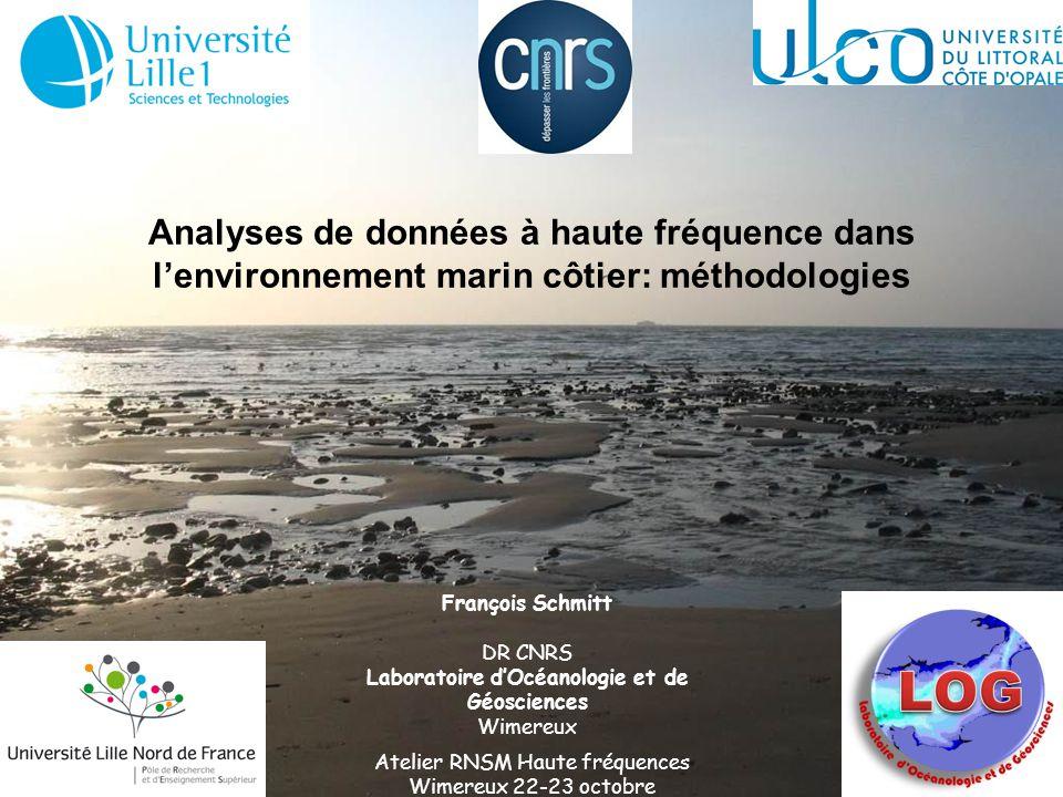 Analyses de données à haute fréquence dans lenvironnement marin côtier: méthodologies Atelier RNSM Haute fréquences Wimereux 22-23 octobre François Sc