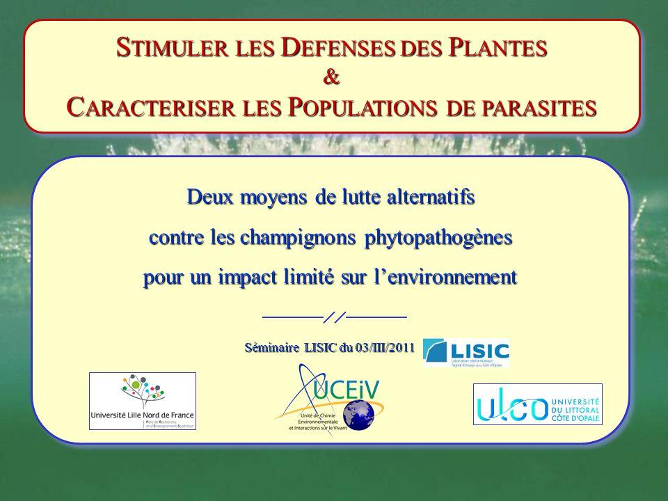 La diversité des activités biologiques : suite Les modifications de la composition en A.G.