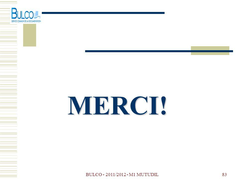 BULCO - 2011/2012 - M1 MUTUDIL83 MERCI!