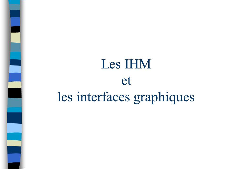 Les IHM et les interfaces graphiques