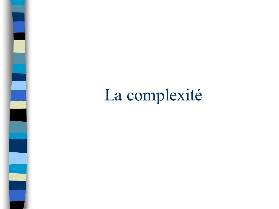 La complexité