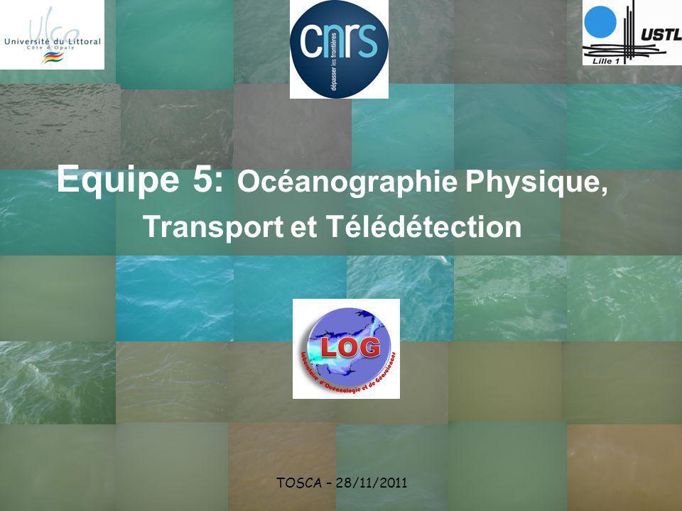 Equipe 5: Océanographie Physique, Transport et Télédétection TOSCA – 28/11/2011