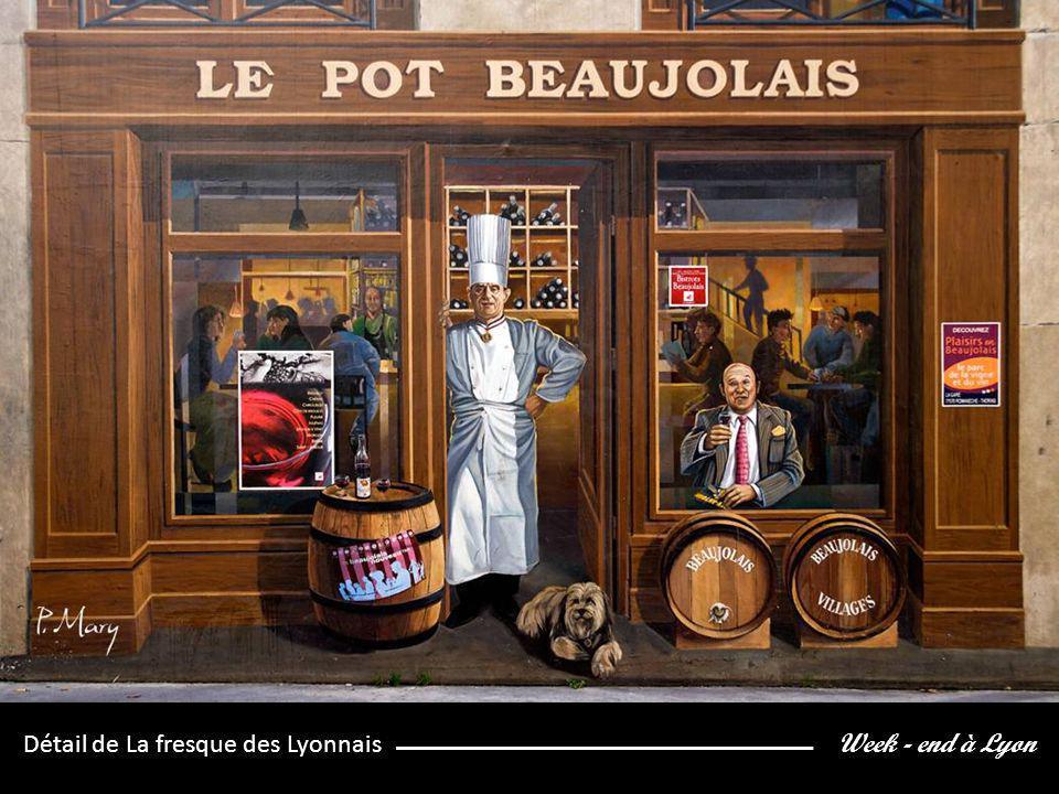 Week - end à Lyon Détail de La fresque des Lyonnais