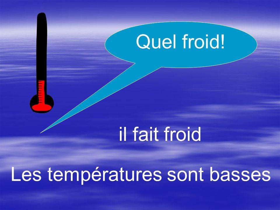 il fait chaud Les températures sont élevées Quelle chaleur!