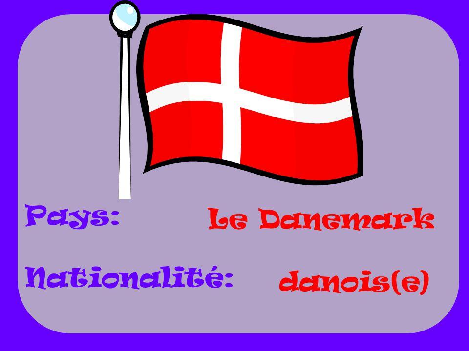 Le Danemark danois(e) Pays: Nationalité:
