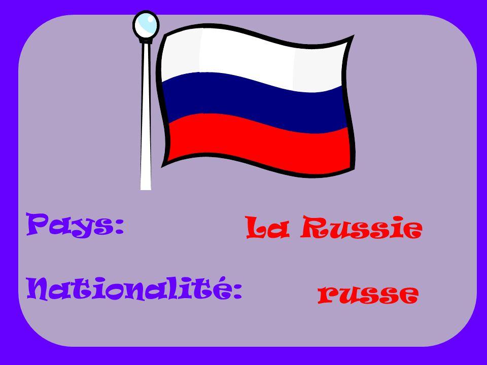 La Russie russe Pays: Nationalité: