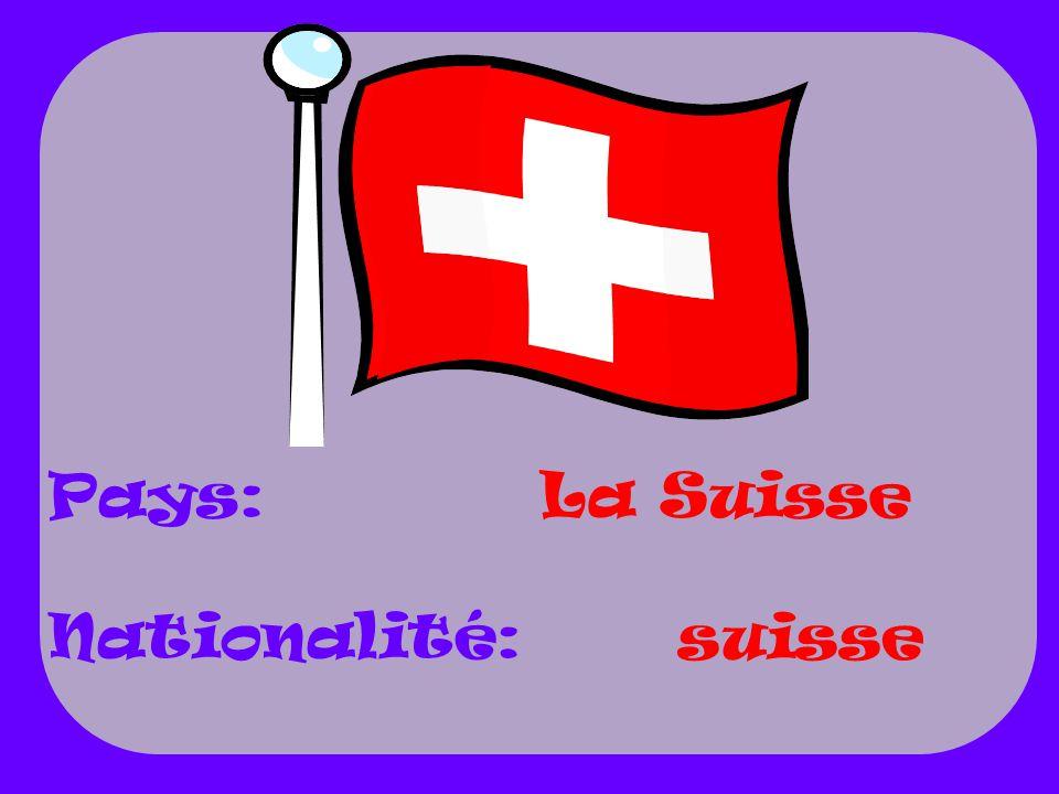 La Suisse suisse Pays: Nationalité: