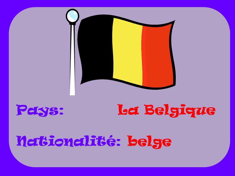 La Belgique belge Pays: Nationalité: