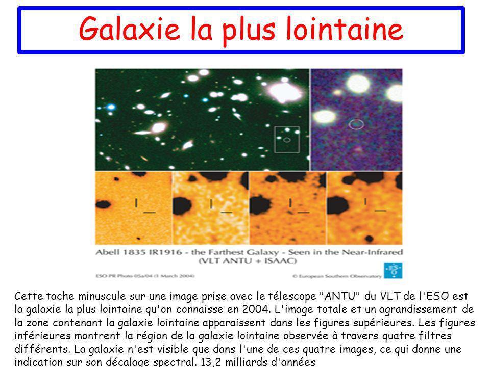 Galaxie la plus lointaine Cette tache minuscule sur une image prise avec le télescope