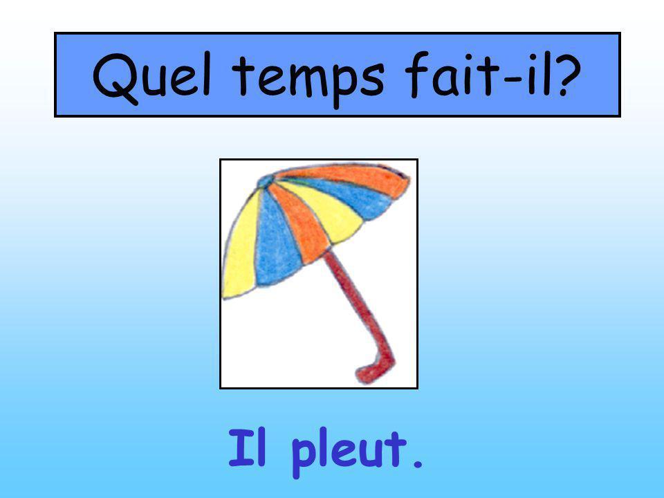 Quel temps fait-il? Il pleut.