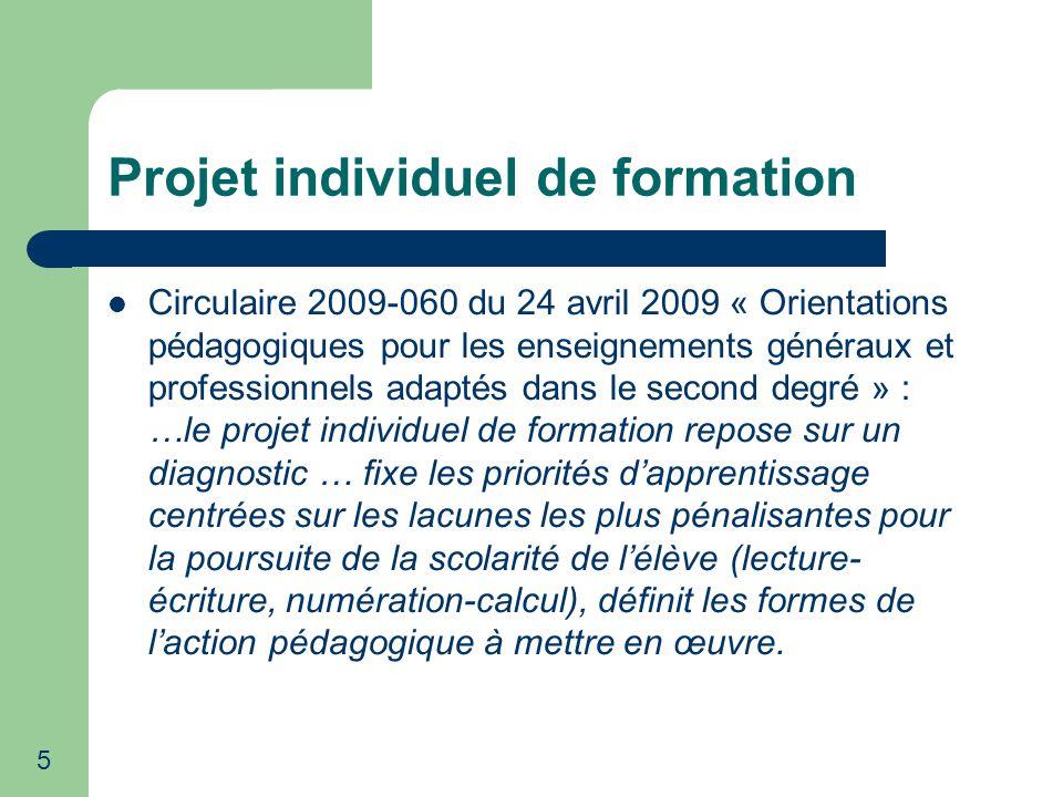 16 Projet individuel de formation Bilan 2009-2010 à partir de lanalyse de 88 P.I.F.