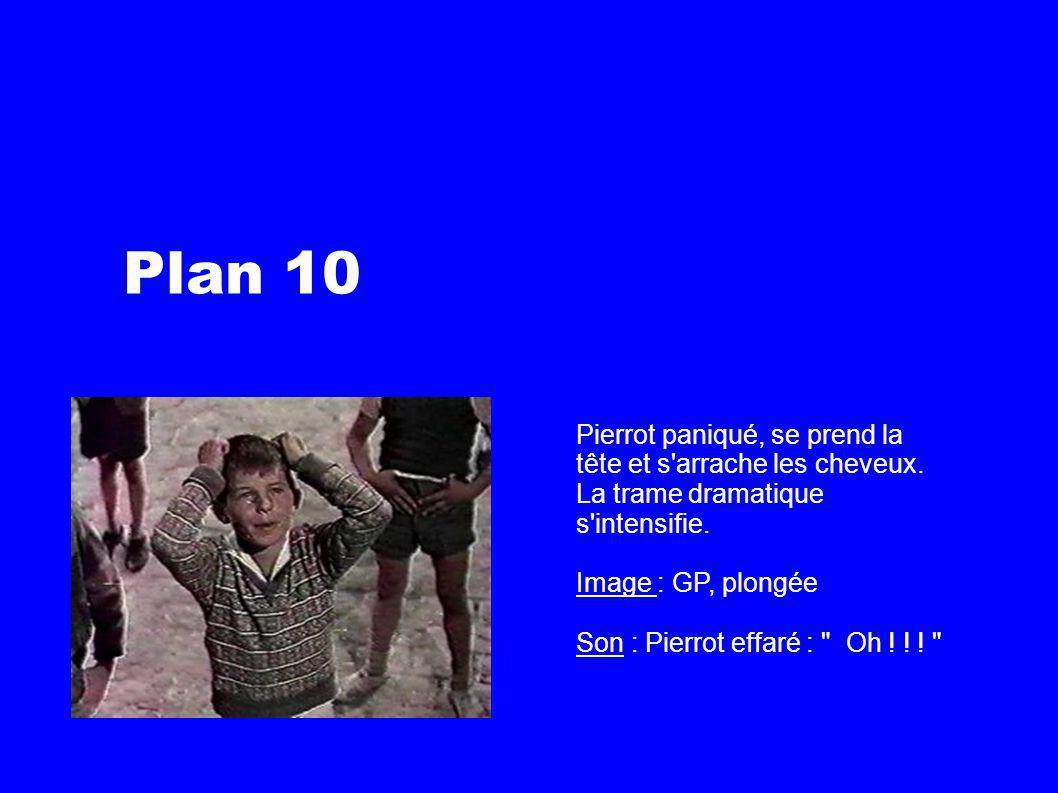 Plan 10 Pierrot paniqué, se prend la tête et s arrache les cheveux.