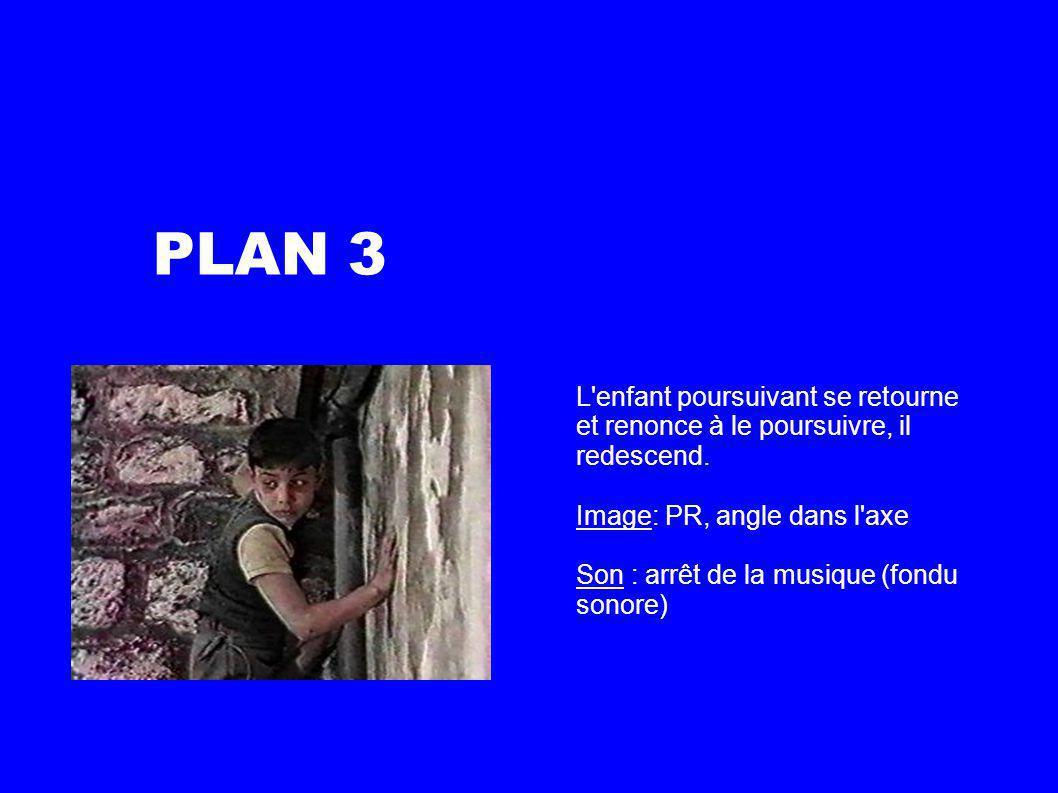PLAN 3 L enfant poursuivant se retourne et renonce à le poursuivre, il redescend.