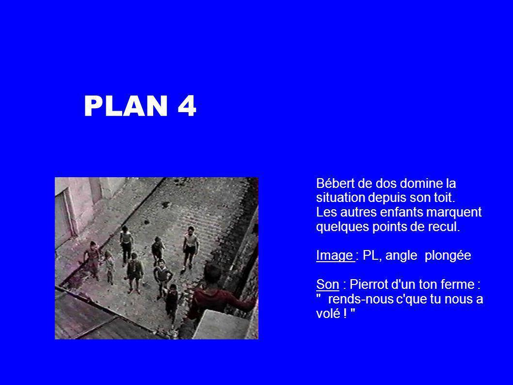 PLAN 4 Bébert de dos domine la situation depuis son toit.