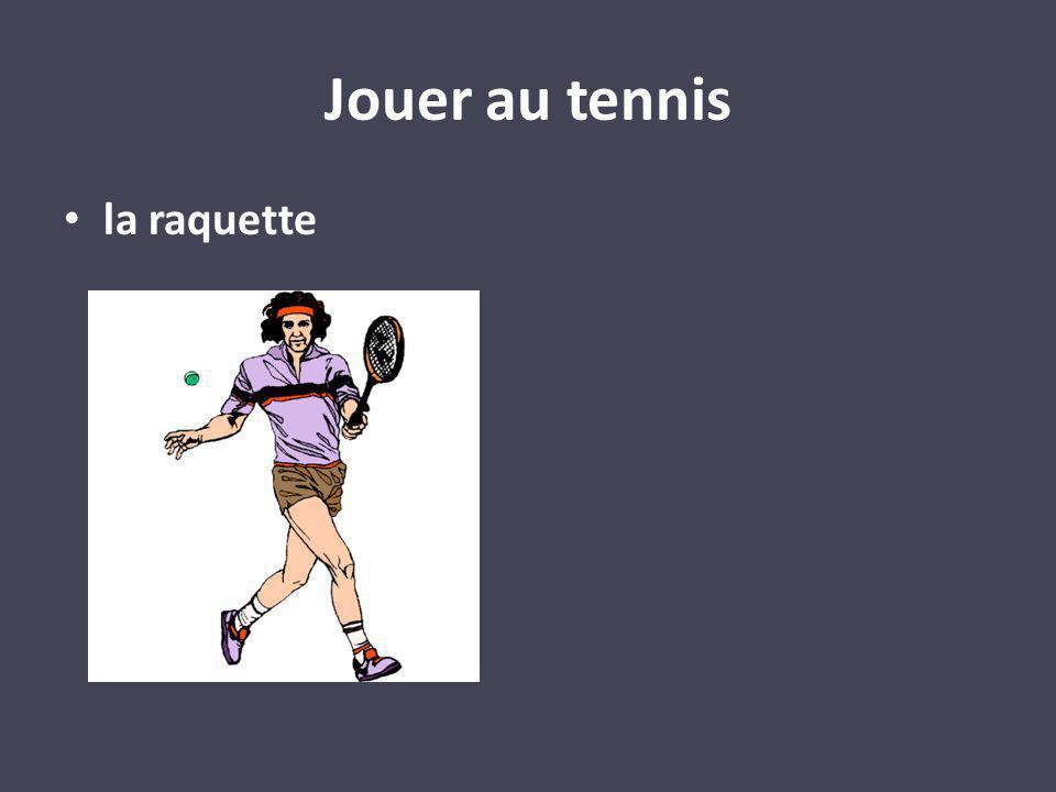 Jouer au tennis la raquette