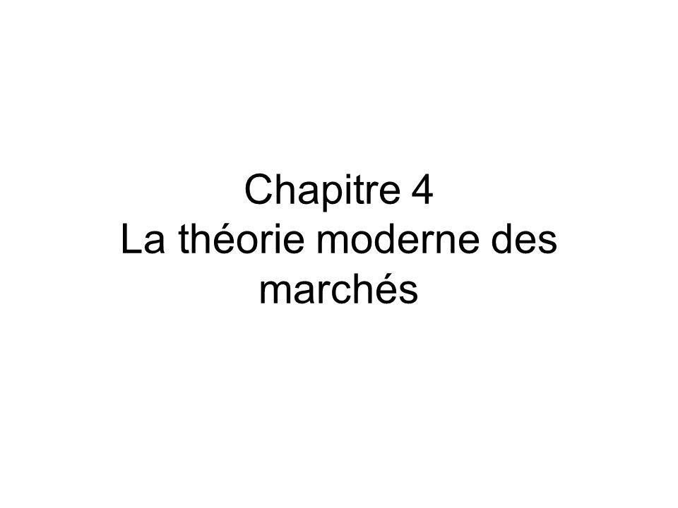 Chapitre 4 La théorie moderne des marchés
