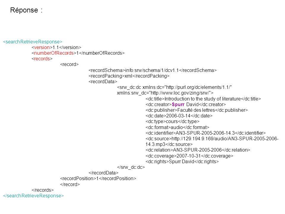 1.1 1 info:srw/schema/1/dcv1.1 xml <srw_dc:dc xmlns:dc=