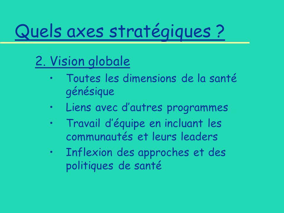 Quels axes stratégiques . 2.