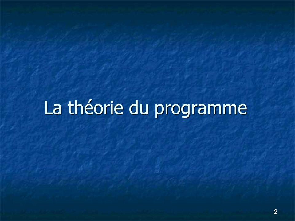 La théorie du programme 2