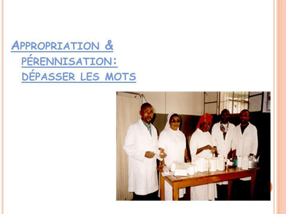 A PPROPRIATION & PÉRENNISATION : DÉPASSER LES MOTS