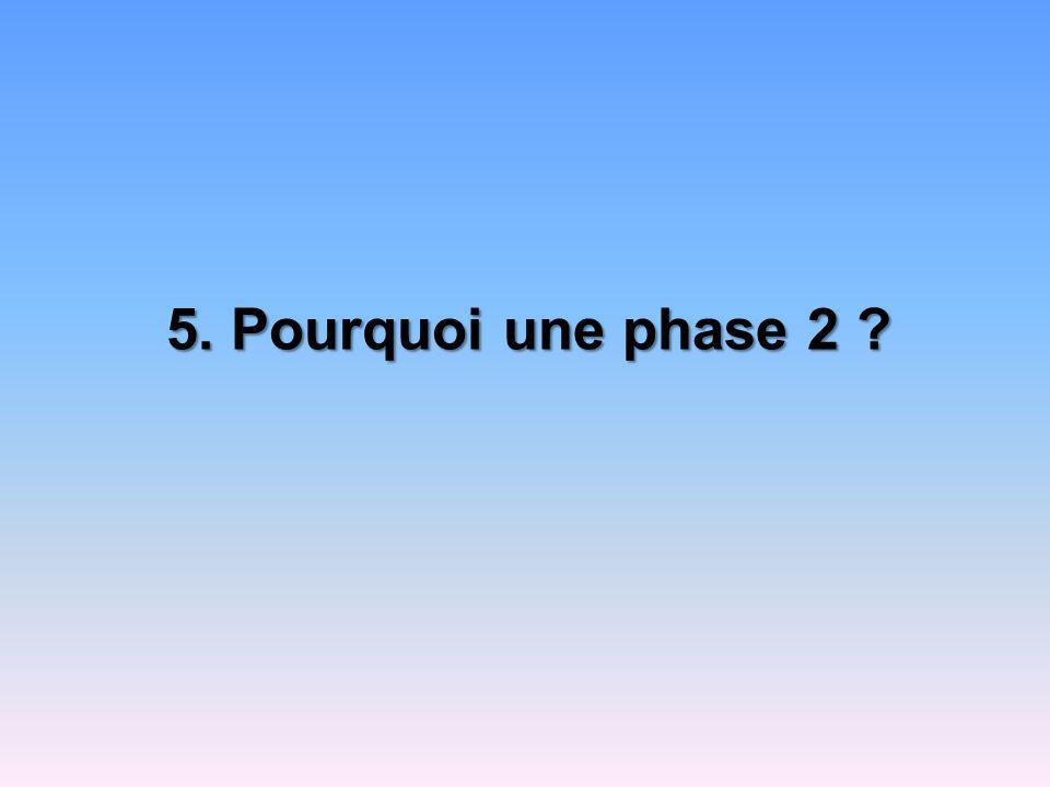 5. Pourquoi une phase 2 ?