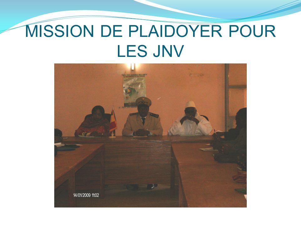MISSION DE PLAIDOYER POUR LES JNV