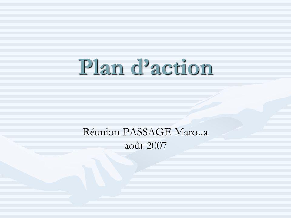 Plan daction Réunion PASSAGE Maroua août 2007