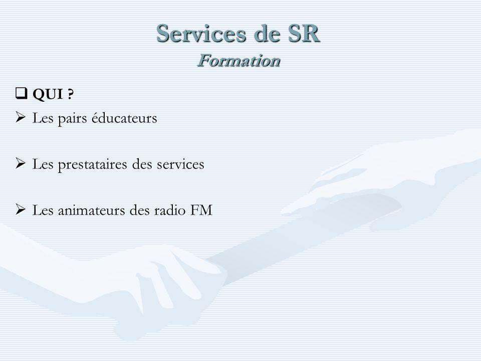 Services de SR Formation QUI . QUI .