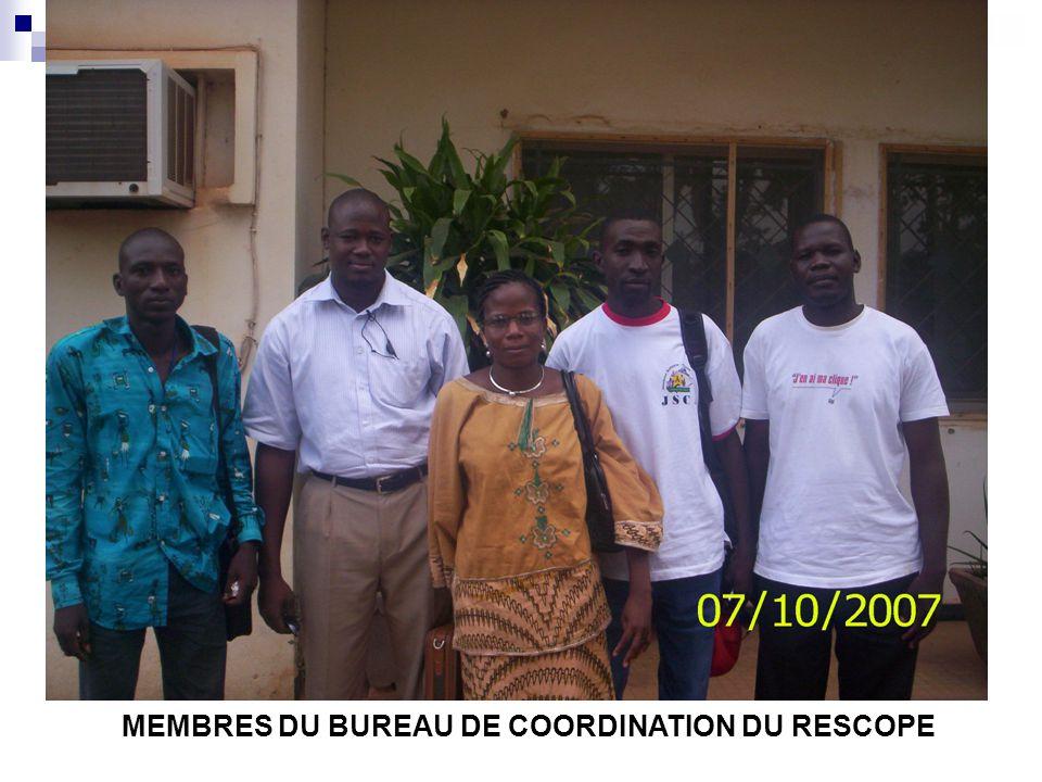 MEMBRES DU BUREAU DE COORDINATION DU RESCOPE