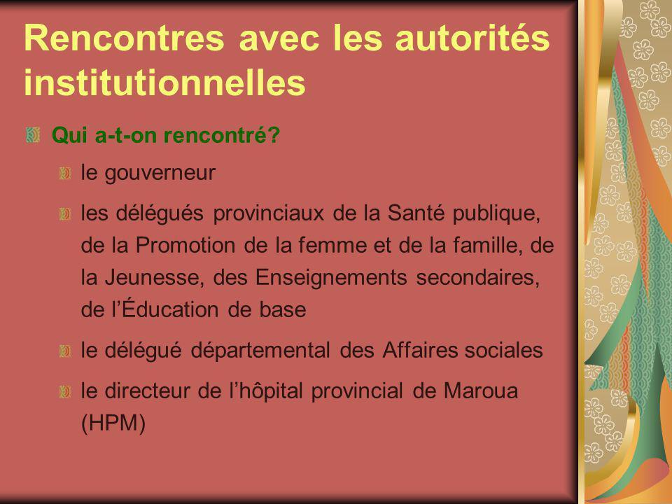 Rencontres avec les autorités institutionnelles (2) Quels engagements ont-ils pris .