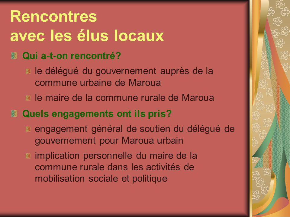 Rencontres avec les élus locaux (2) Quel est leur potentiel pour aider le projet .