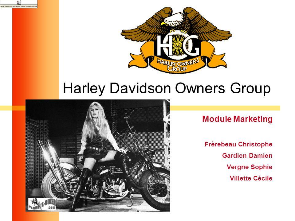 1 Harley Davidson Owners Group Module Marketing Frèrebeau Christophe Gardien Damien Vergne Sophie Villette Cécile