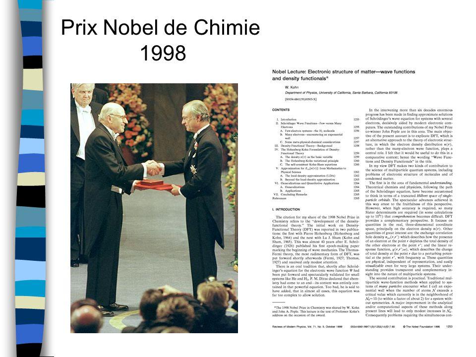 Prix Nobel de Chimie 1998