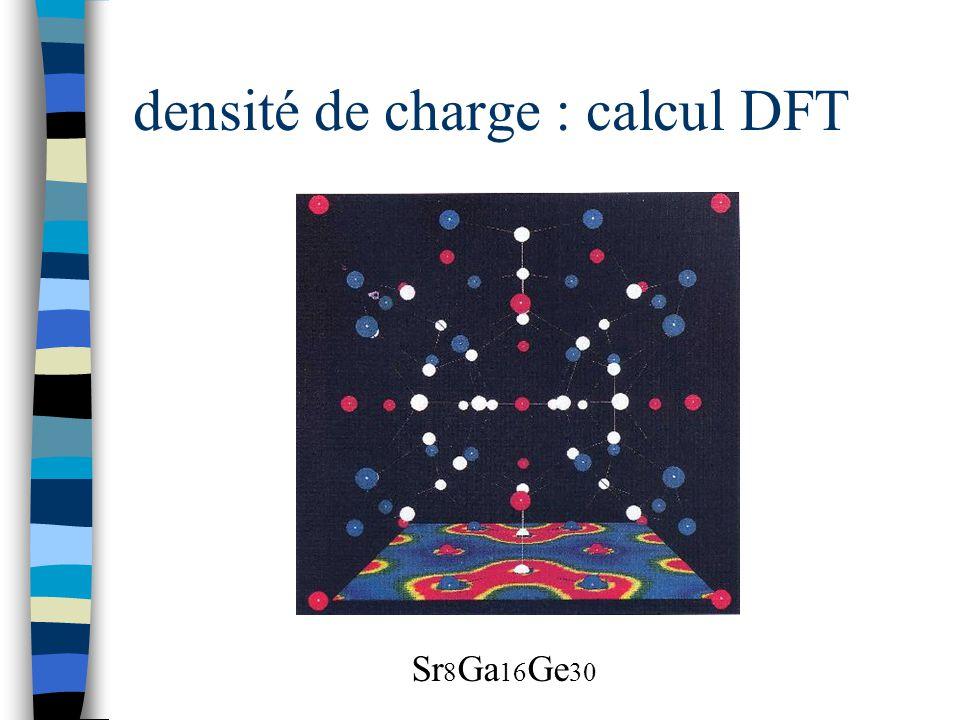 densité de charge : calcul DFT Sr 8 Ga 16 Ge 30