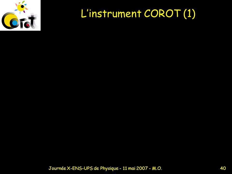 40Journée X-ENS-UPS de Physique - 11 mai 2007 - M.O. Linstrument COROT (1)