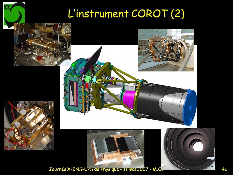 41Journée X-ENS-UPS de Physique - 11 mai 2007 - M.O. Linstrument COROT (2)