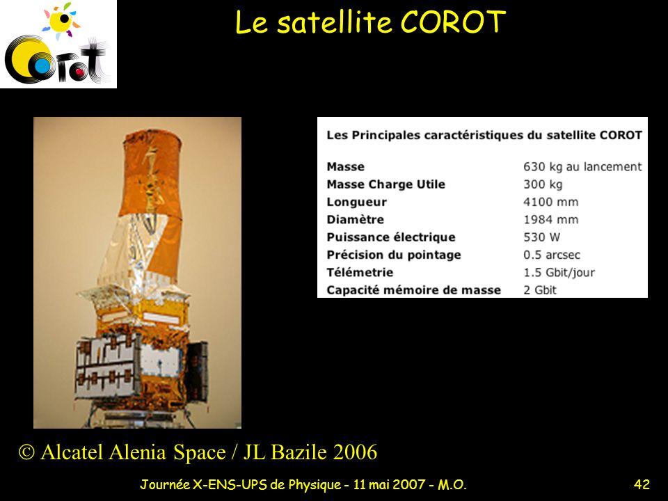 42Journée X-ENS-UPS de Physique - 11 mai 2007 - M.O. Le satellite COROT Alcatel Alenia Space / JL Bazile 2006