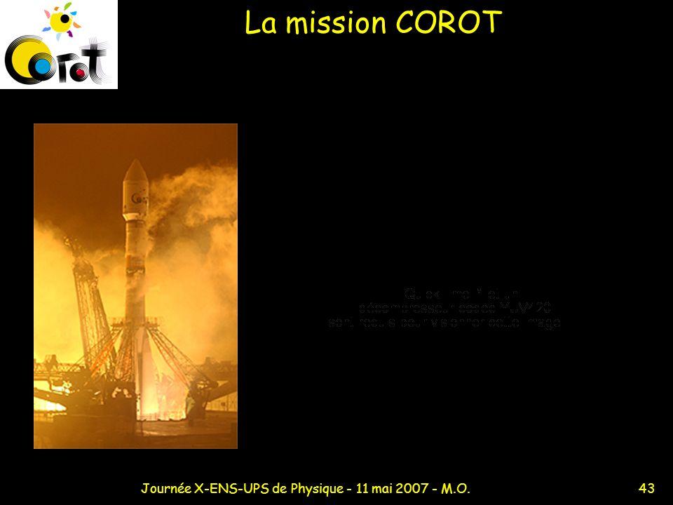 43Journée X-ENS-UPS de Physique - 11 mai 2007 - M.O. La mission COROT