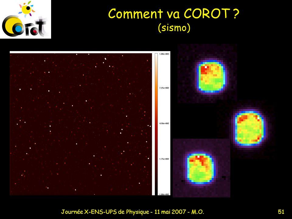 51Journée X-ENS-UPS de Physique - 11 mai 2007 - M.O. Comment va COROT ? (sismo)